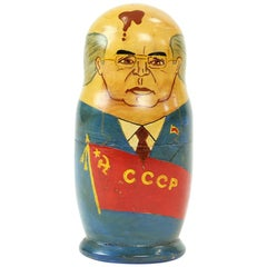 Matryoshka of Soviet Politicians, Soviet Era, USSR, circa 1980s
