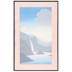 1980s Signed Pastel Landscape Serigraphs, a Pair