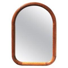 1960s Mid-Century Modern Oak Wall Mirror