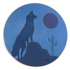 Large Vintage Wolf Wall Mirror