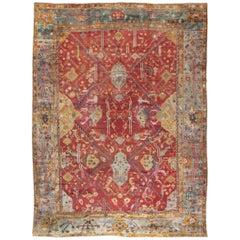 Oversized Antique Turkish Oushak Rug