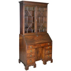 Antique Bureau Bookcase, English, Georgian Mahogany, circa 1800