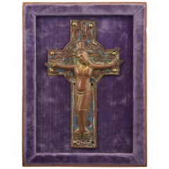 Christ on Cross, 'Corpus Christi', Enamel, Copper, Limoges, 12th-13th Century