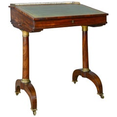 Antique Writing Table, English, Regency, Mahogany, Davenport, circa 1820