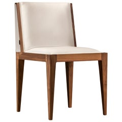 Contemporary Upholstered Chair Made of Canaletto Walnut Wood