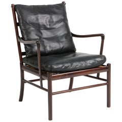 Ole Wanscher Colonial Chair in Mahogany and Original Leather, PJ 149