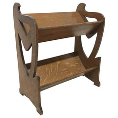 Liberty & Co. a Sweet Little Arts & Crafts Oak Bookcase with Stylised Cut-Outs
