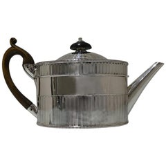 18th Century Antique George III Sterling Silver Teapot Lon 1783 Wakelin &Taylor