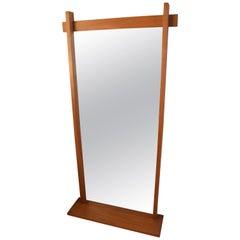 Danish Teak Long Mirror from Aarhus Glasimport, 1960s