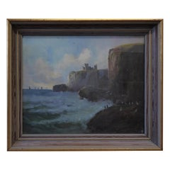 Slains Castle by Colin Hunter, 1841-1904 Oil Painting