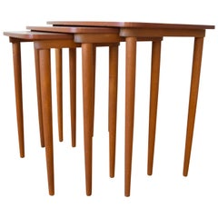 Danish Midcentury Teak Nest of Tables, 1960