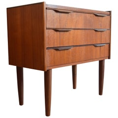Danish Midcentury 3-Drawer Teak Chest, 1950s-1960s