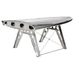 Aviator DC3 Aeroplane Wing Desk in Aluminium