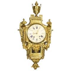 Large 18th Century Wall Clock, Louis XVI, Signed Le Nepveu a Paris