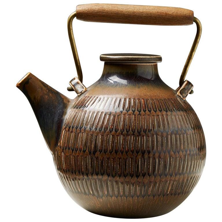 Teapot Designed by Stig Lindberg, Sweden, 1950s For Sale