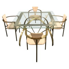 Vintage Brass Dining Set by Belgochrom, 1970s