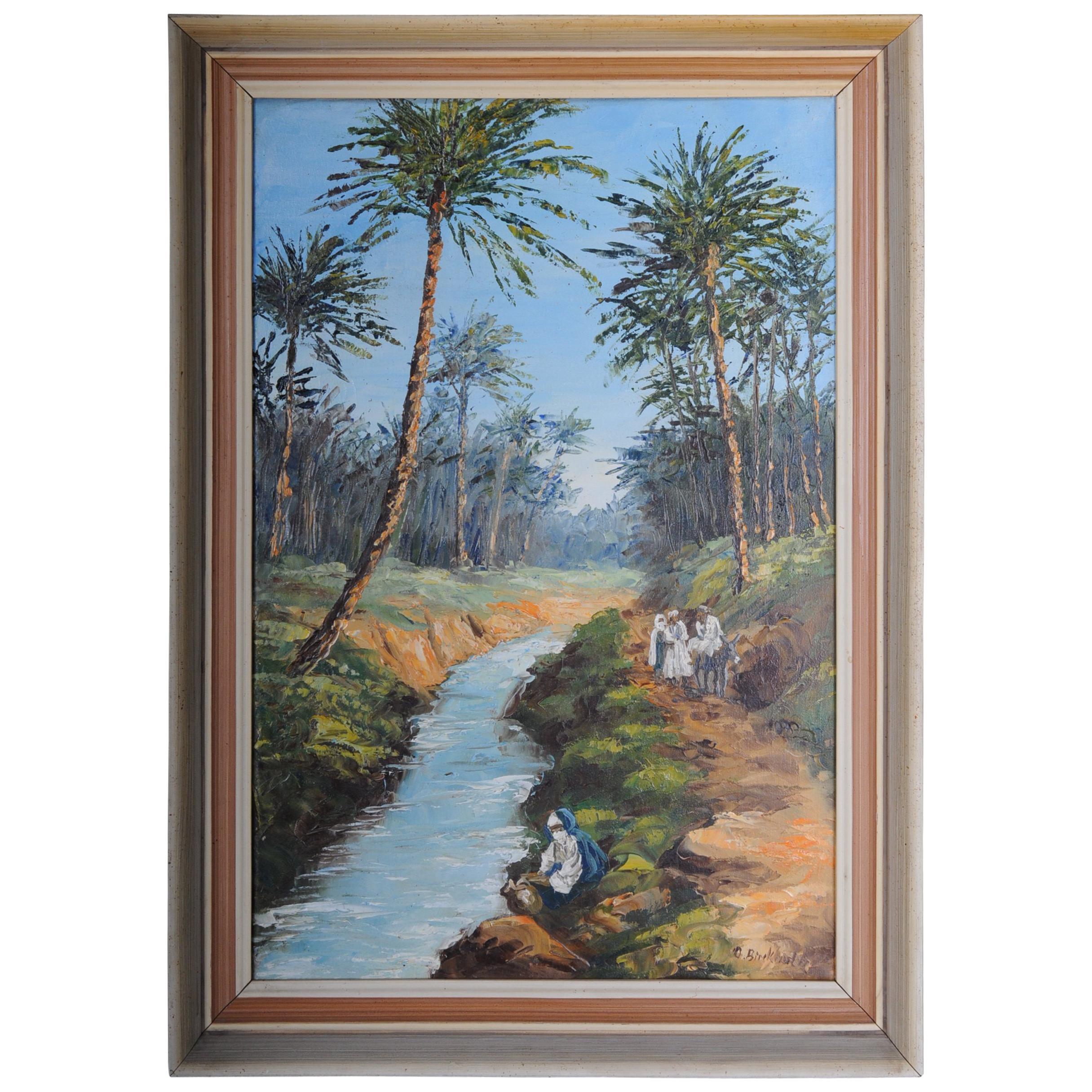 Oriental Painter Oil Painting O. Birkholz