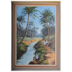 Oriental Painter Oil Painting O. Birkholz