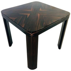Art Deco End Table Coffee Table Made of Macassar