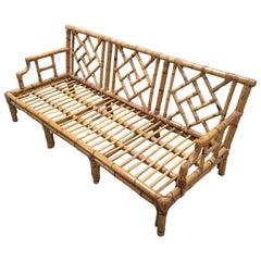 Mid-Century Modern Italian Bamboo Sofa, 1970s