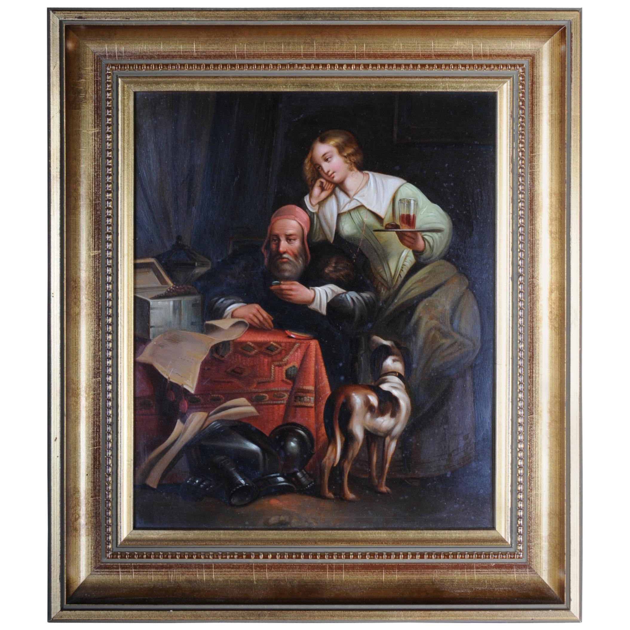 Antique Dutch Genre Painter, 19th Century