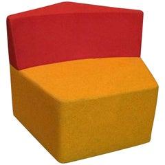Howe Manhattan Orange and Red Pentagon Chair