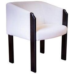 Antique Art Deco Original Ebony Upholstered Tub Chair