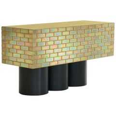 "Gregor Jenkin, ""A Piece of Furniture Made of Brick"", Brass and Steel Sideboard"