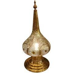 Medium Intricate Moroccan Copper Lamp or Lantern, Table Lamp