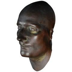 Bronze Death Mask of the Emperor Napoleon I Bonaparte Antique