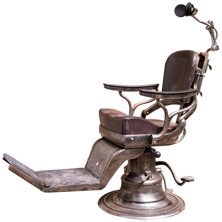 Antique Original Early 20th Century Dentist Chair For Sale - Antique Original Early 20th Century Dentist Chair For Sale At 1stdibs