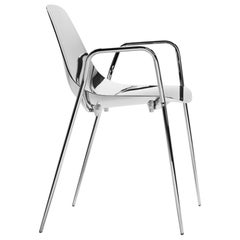 Needle Armchair or Chair in Polished Aluminium or with Polished Brass