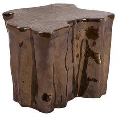 Heaven Brown Ceramic Side Table