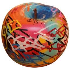 Apple Graffiti A Sculpture in Ceramic