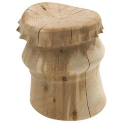 Capsule Cedar Stool in Solid Cedar Wood