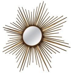 Large concave Chaty Vallauris sunburst mirror