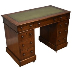 19th Century Victorian Pedestal Desk