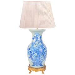 19th Century Chinese Celadon Vase or Lamp