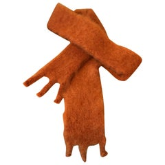 Lena Rewell Mohair Scarf in Burnt Orange