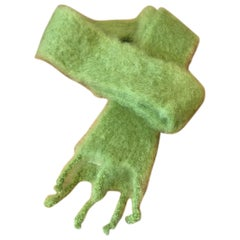 Lena Rewell Mohair Scarf in Chartreuse