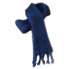 Lena Rewell Mohair Scarf in Petrol Blue