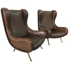 "Marco Zanuso ""Senior"" Armchairs for Arflex"