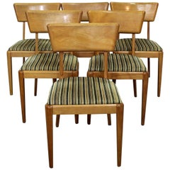 Set of 6 Mid-Century Modern Heywood-Wakefield Champagne Dining Chairs