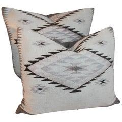 Navajo Indian Weaving Large Pillows or Pair