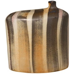 Striped Pattern Glazed Vase, China, Contemporary