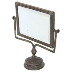 Antique French Shaving, Standing Mirror