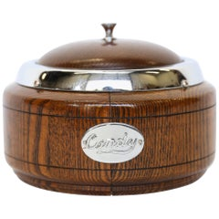 Vintage English Oak Candy Dish with Lid
