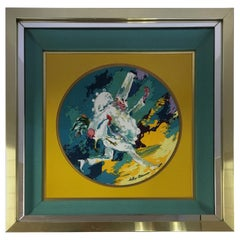 Leroy Neiman Limited Edition Royal Doulton Punchinello 1978 Framed Artwork Plate