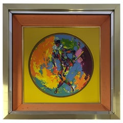 Leroy Neiman Limited Edition Royal Doulton Harlequin 1974 Framed Artwork Plate