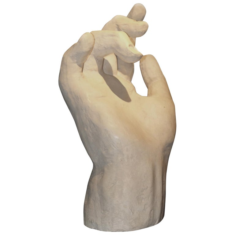 Large Plaster Hand, France, Contemporary For Sale